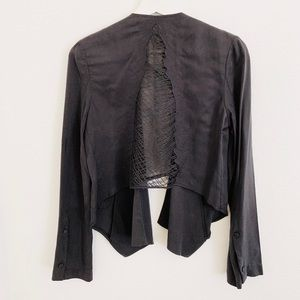 Phanuel/ANGL See Thru Stitched Back Cropped Jacket